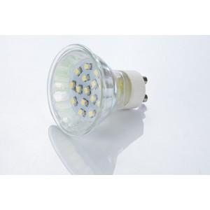 LED žiarovka GU10 15 SMD 3528 CW 1,5W